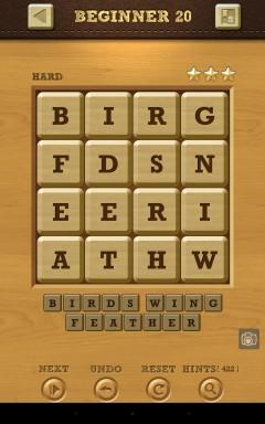 Words Crush Hard Beginner Level 20