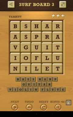 Words Crush Variety Surf by Board Level 3