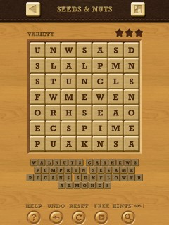 Words crush variety theme 11 seeds nuts