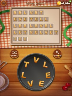Word cookies grapefruit 12