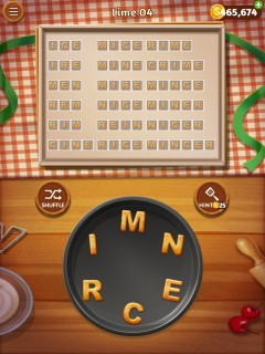 Word cookies lime 4