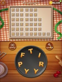 Word cookies raspberry 17