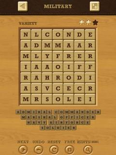 Words crush variety theme 12 military
