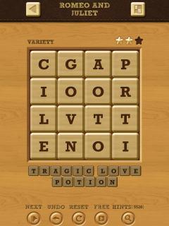 Words crush variety theme 14 level 1