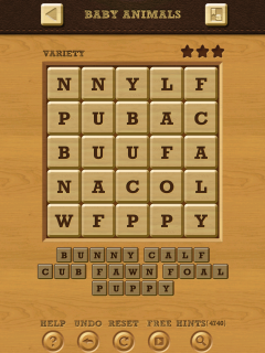 Words crush variety theme 15 level 6