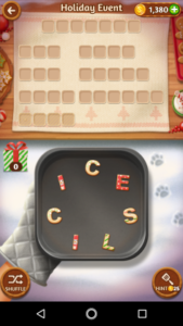 Word cookies 20 12 2017 holiday event