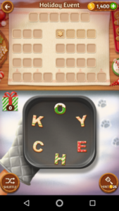 Word cookies 21 12 2017 holiday event