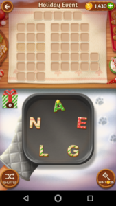 Word cookies 22 12 2017 holiday event