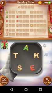 Word cookies 23 12 2017 holiday event