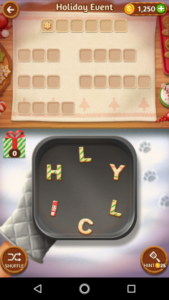 Word cookies 24 12 2017 holiday event