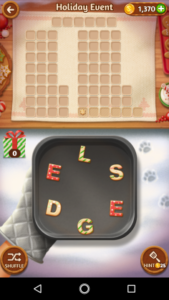 Word cookies 25 12 2017 holiday event