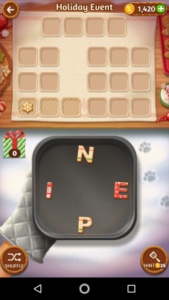 Word cookies 26 12 2017 holiday event