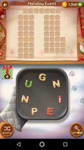 Word cookies 28 12 2017 holiday event