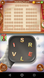 Word cookies 29 12 2017 holiday event