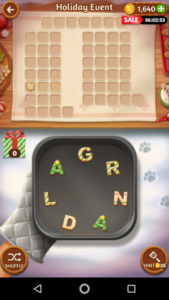 Word cookies 30 12 2017 holiday event