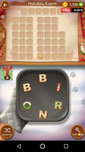 Word cookies 31 12 2017 holiday event